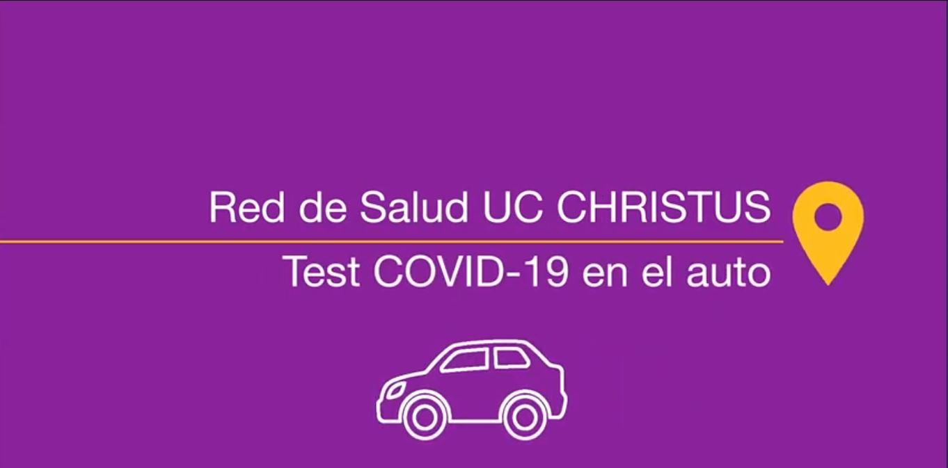 examen COVID-19 en el auto